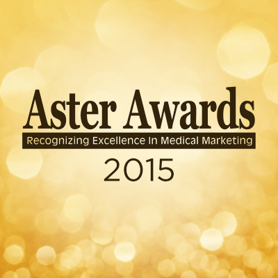 Aster Award Graphic: Orange bubbles with text--2015 Aster Awards