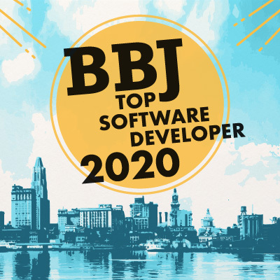 BBJ graphic above Baltimore Skyline