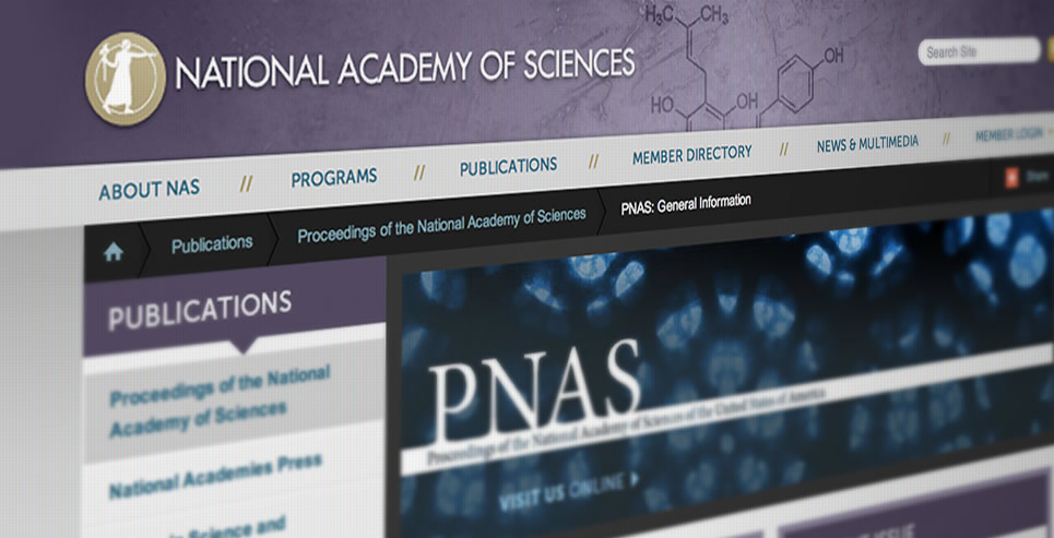 National Academy of Sciences screenshot