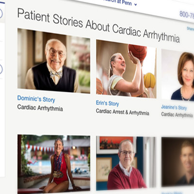 detail of Penn Medicine website with patient stories