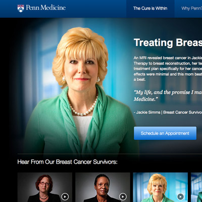detail of Penn Medicine cancer survivor story