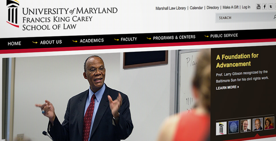 University of Maryland School of Law screenshot