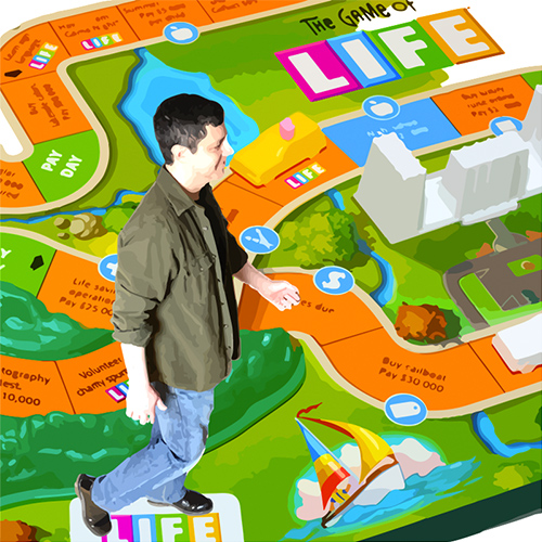 man in a board game