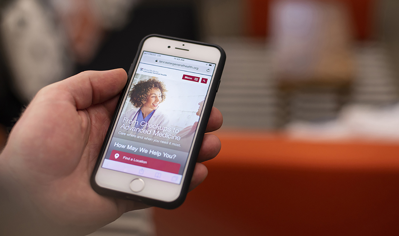 Lancaster General Health Mobile View Designed by TBG on Sitecore