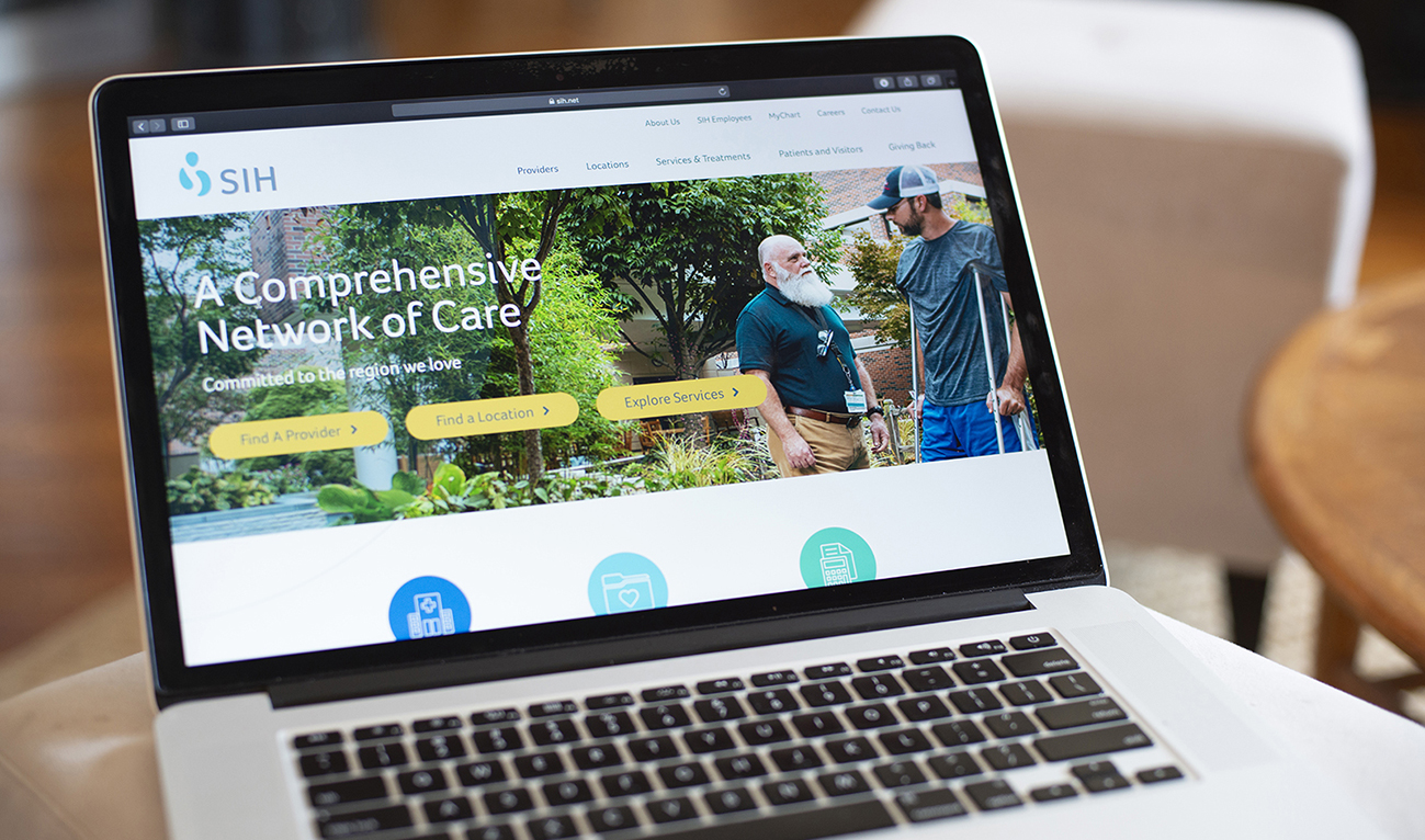 Southern Illinois Healthcare Website designed by TBG on Sitecore