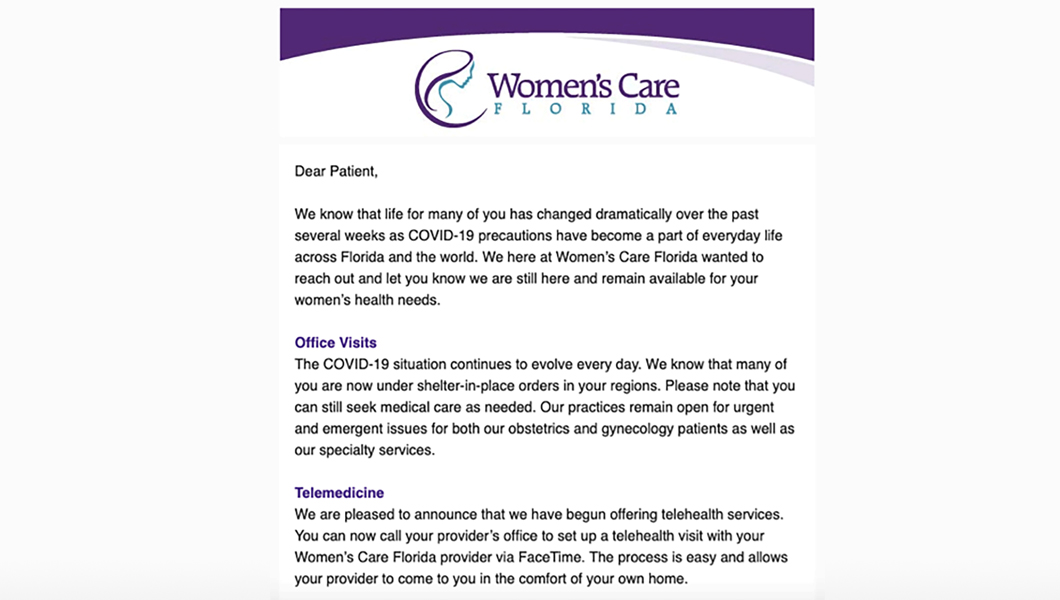 Womens Care Email