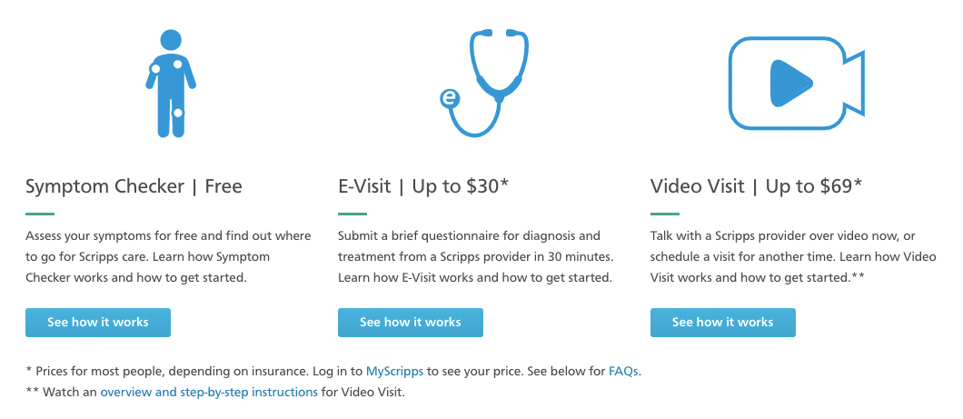 Scripps Pricing Transparency for Telehealth