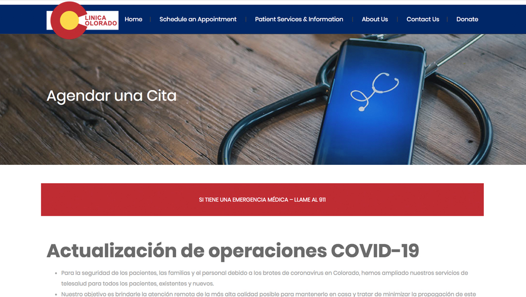 Colorado Clinic Spanish Language Content